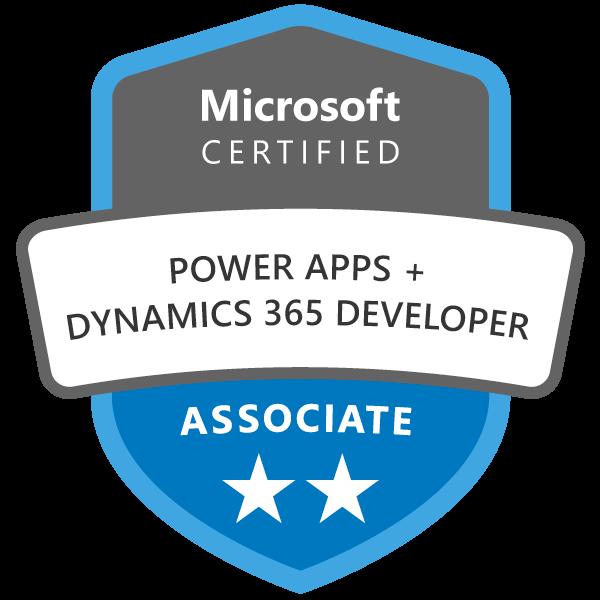 Microsoft Certified: Power Apps + Dynamics 365 Developer Associate - Credly